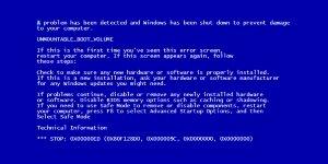 blue screen of death generator