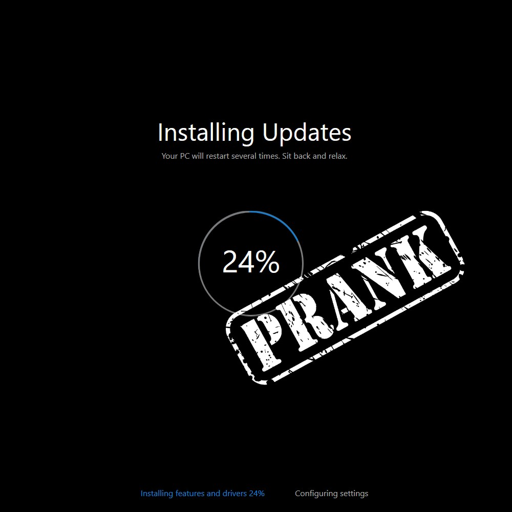 Fake Windows 10 Update Screen Prank